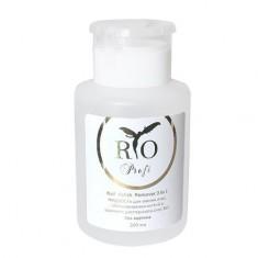 Rio Profi, Жидкость для снятия «3 в 1», с помпой, 200 мл