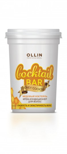 OLLIN PROFESSIONAL Крем-кондиционер для гладкости и эластичности волос Медовый коктейль / Cocktail BAR 500 мл