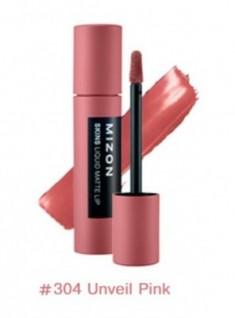 Помада матовая жидкая MIZON Skins Liquid Matte Lip №304 Unveil Pink