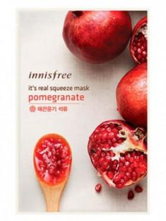 Маска для лица с гранатовым соком INNISFREE It's Real Squeeze Mask Pomegranate