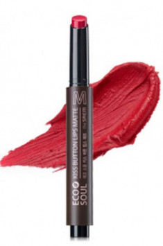 Помада для губ матовая THE SAEM Eco Soul Kiss Button Lips Matte 05 Red Warmer 2гр
