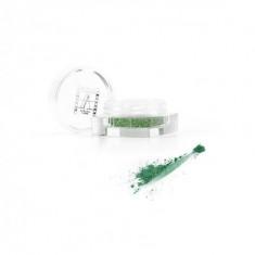 Рассыпчатые перламутровые тени Make-Up Atelier Paris PP07 зелёный миндаль