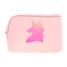 Косметичка-сумочка LADY PINK RAINBOW Unicorn с голографией