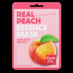 Тканевая маска для лица с экстрактом персика FARMSTAY REAL PEACH ESSENCE MASK 23 мл