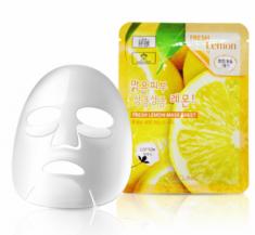 Тканевая маска для лица с экстрактом лимона 3W CLINIC Fresh Lemon Mask Sheet