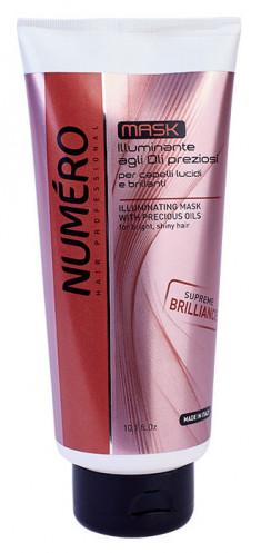 BRELIL PROFESSIONAL Маска для придания бриллиантового блеска волосам, с маслом арганы и макадамии / Numero 300 мл