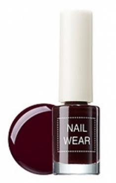 Лак для ногтей THE SAEM Nail wear 18. Redbean Brown 7мл