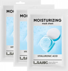 Увлажняющая тканевая маска с гиалуроновой кислотой L.SANIC HYALURONIC ACID MOISTURIZING MASK SHEET 25мл*3шт