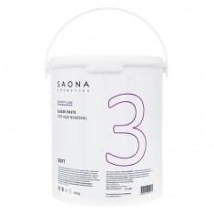 Saona Cosmetics, Сахарная паста для депиляции Soft, мягкая, 3500 г