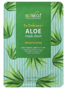 Маска тканевая успокаивающая с алоэ Soleaf So Delicious Aloe Mask Sheet 25 мл