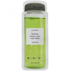 Тканевая детокс-маска из натурального сока Eco Secret Healthy Cleance Juice mask sheet GREENDAY 20 мл